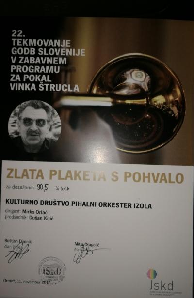 22. Tekmovanje godb Slovenije v zabavnem programu za pokal Vinka Štrucla