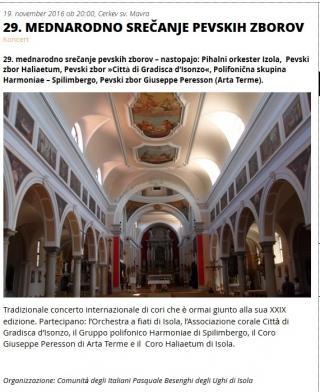 29. mednarodno sredčanje pevskih zborov